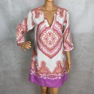 J Crew $138 Womens Linen Cotton Long Sleeve Dress